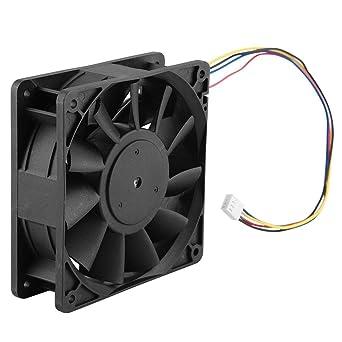 12V 4.8A Ventilador de escape Ruido bajo Alto flujo de aire Industrial Ventilador con Línea de 35cm Un solo paquete ...