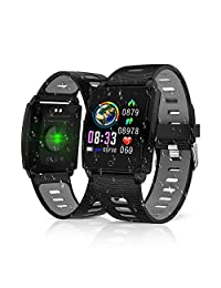 2019 Version Fitness Tracker, King Link Smart Watch with Heart Rate Blood Pressure Sleep Monitor,Waterproof Pedometer Large Color Screenwith Pedometer Calorie Counter Smart Watch for Women Men