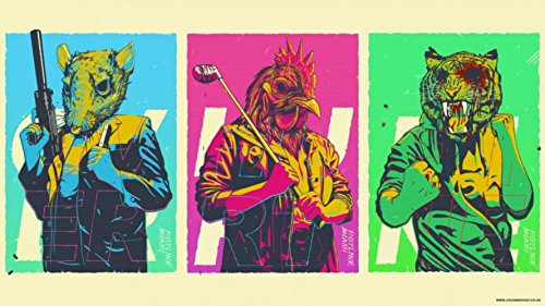 The Most Exciting Game Poster Hotline Miami Video Games Canvas Print