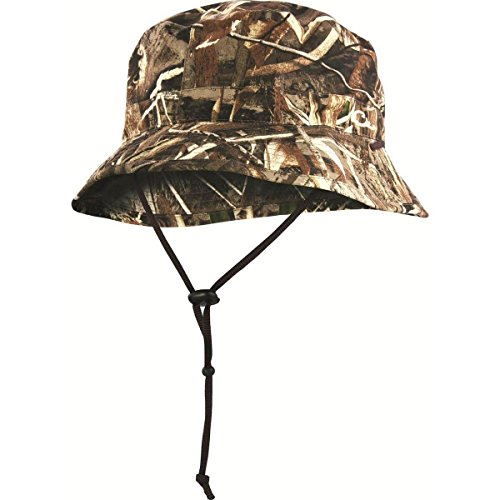 a2a5e9dad35 Drake Waterfowl Men s Waterproof Boonie Hat Large Mossy Oak Shadow Grass  Blades