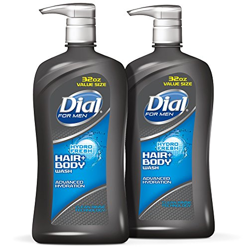 Gel Liquid Shower Gel (Dial for Men Hair and Body Wash, Hydrofresh, 32 Ounces (Pack of 2))