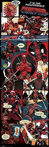 Grupo Erik editores- poster porta Deadpool Panels Pyramid CPP20243