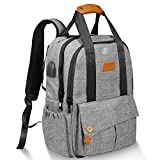 BIL-YOPIN Diaper Bag Backpack Multi-Function Mommy Bag Backpack Baby Bags Nappy Backpack for Both Dad and Mom with Stroller Straps,Changing Pad,USB Port and Laundry Bag