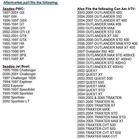 SEADOO FUEL KNOB SWITCH Sportster SP SPX GTX  1996-2005 275500263 275500224 NEW