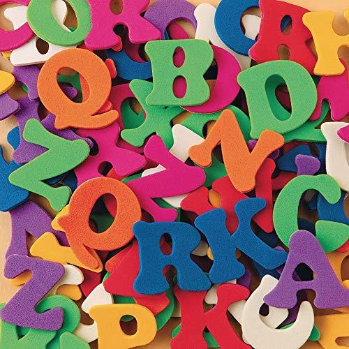S&S Worldwide Assorted Color Splash Adhesive Foam Alphabet Shapes - 1,008 Pieces!