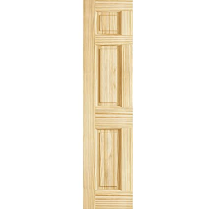 6 Panel Door Interior Slab, Solid Pine (18x80)