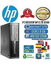 PC HP Elite 8300SFF Intel Core i737703,40GHz/8GB/SSD 120GB/DVD/Win 10Pro (Certificado y General para embragues)