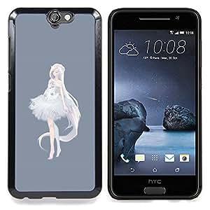 - Princess Ballerina Anime Grey White/ Duro Snap en el tel????fono celular de la cubierta - Cao - For HTC ONE A9
