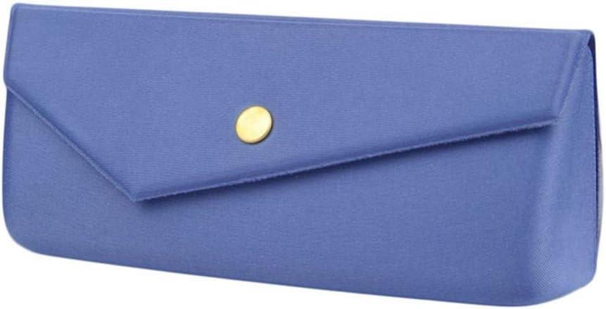 HQWLCIYD Estuche de lápices Estuche para lentes 6 colores disponibles Estuches Spectacle 1 pieza de luz protectora Triangular Fold Glasses Case Gafas Gafas de sol Protector Caja dura, azul
