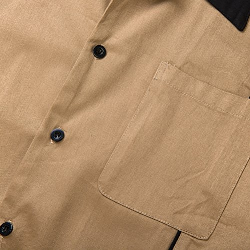 Cotton Look Plus Down Camicie Size Camp Shirt Button Candow Uomo 5XdwAXq