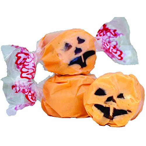 5 LB. Halloween Faces (Orange with Black Face) Salt Water Taffy - Gourmet Taffy by Taffy Town]()