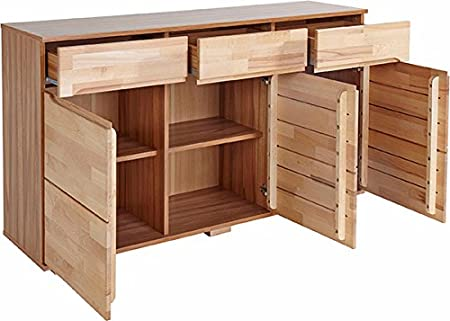 Sideboard 149945 Kommode Kernbuche Teilmassiv 150cm Neu Amazon De