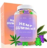 Hemp Gummies - Hemp Extract Hand Infused Gummy Bears for Anxiety Relief, Stress Relief, Natural Calm & Pain Relief - Organic, Gluten-Free & Vegan with Omega 3-6-9, Vitamin E & Vitamin A