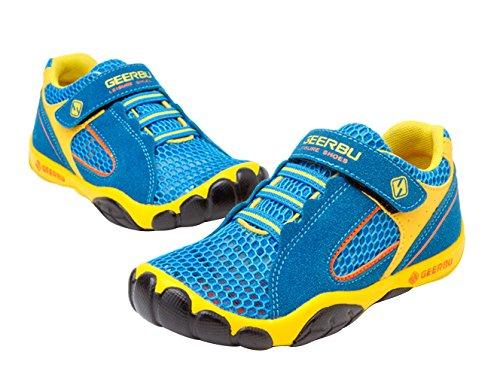 La Vogue Zapatos Zapatillas de Deporte para Niño Running Transpirable Azul