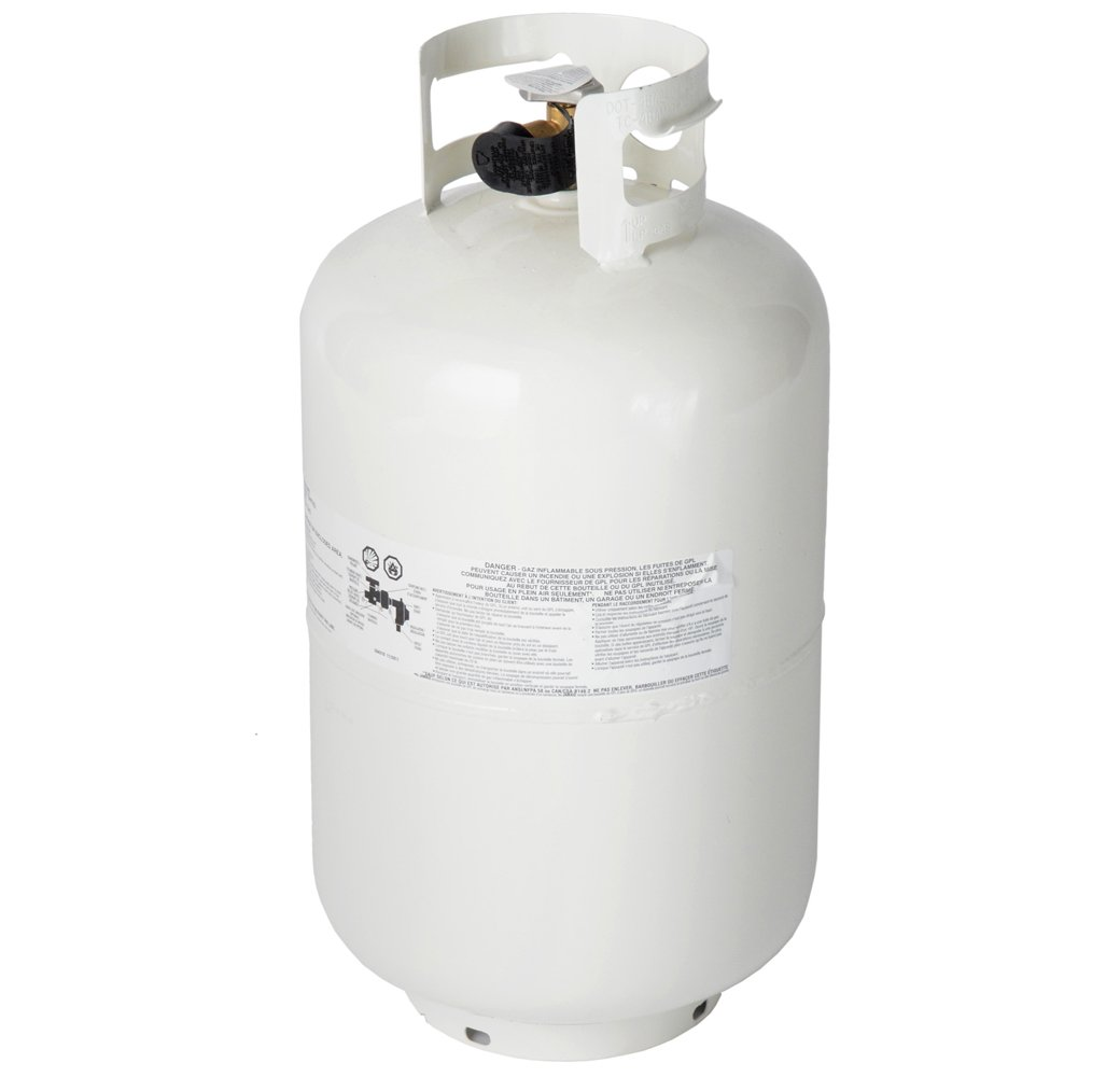 Refillable 30-pound, 7.1-gallon Steel Propane Tank with Overflow Protection Device Valve