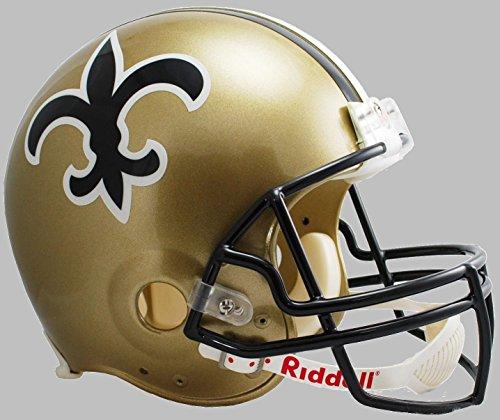Riddell New Orleans Saints 1976-1999 NFL Full Size Replica Throwback Football Helmet