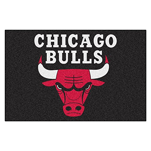 FANMATS 11902 NBA Chicago Bulls Nylon Face Starter Rug , 19''x30'' by Fanmats