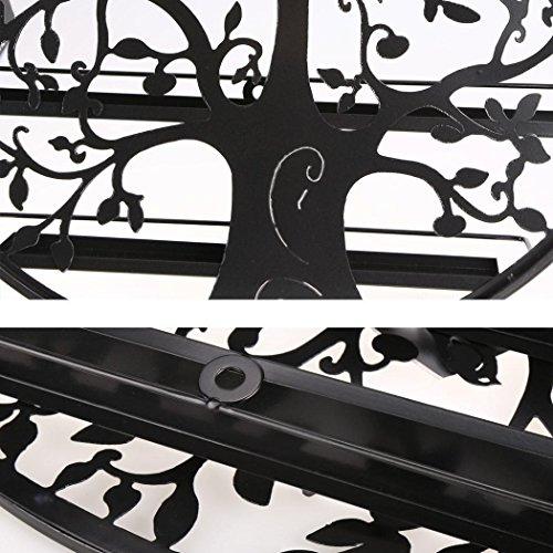 Lantusi Wall Mounted 5 Tier Nail Polish Rack Holder, Tree Silhouette Black Round Metal Nail Polish Storage Organizer Display, Great for Home, Business, Salon, Spa, and More (US STOCK) (Tree) by Lantusi (Image #4)