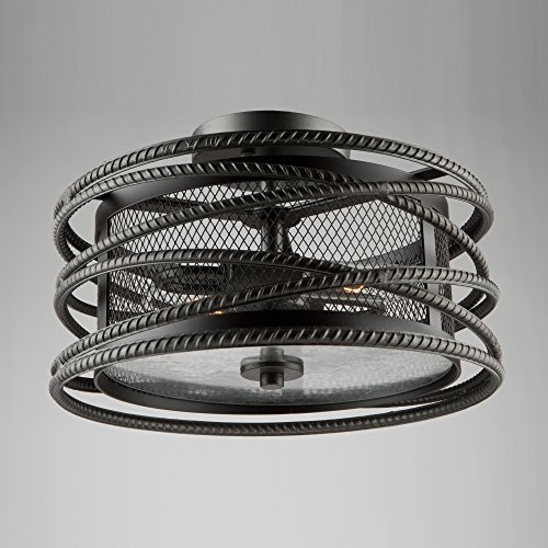 - Artcraft Lighting Artcraft AC10824JV Rebar Studio 2-Light Flush Mount, Dark Java Brown