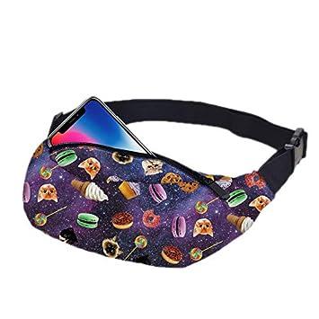 Hwyaobao Cute Lips 3D Colorful Full Printing Womens Waist Bag Girls Fanny Packs Belt Bum Leg Travel Phone Money Pouch Womens Banana Bag