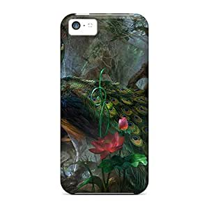 Awesome Design Peacock Hard Case Cover For Iphone 5c