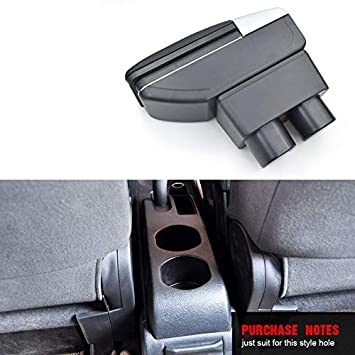 Para Nissan Juke ESQ 2014-2017 Apoyabrazos Caja de almacenamiento Coches Reposabrazos Central Negro
