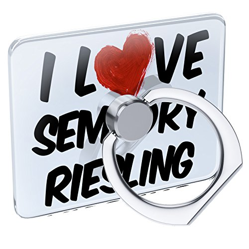 Wine Semi Dry Riesling - Cell Phone Ring Holder I Love Semi Dry Riesling Wine Collapsible Grip & Stand Neonblond