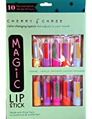 Cherry Chree Color-Changing Magic Lipstick Adjusts to Your Mood, 10 Piece Set
