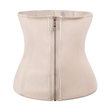 a6e67fe6b0671 Amazon.com  Corset Body Shaper Latex Rubber Waist Trainer for Underbust  Slimming Cincher  Clothing