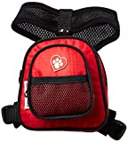 SarahTom 5-Inch Pet Backpack for Dogs, Red