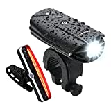 USB Rechargeable Bike Light Set, NearMoon Quick Release Bicycle Lights with Headlight Taillight, Super Bright Front Lamp and Red Rear Light with Emergency Flashlight, Waterproof, Bike Helmet Mount Review