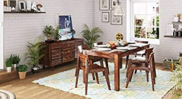 Woodstock Furniture Solid Sheesham Wood Premium Quality 6 Seater