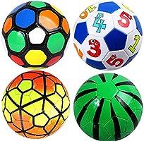 Fanuosu Pelota de Futbol, Mini balón de fútbol Tamaño Oficial 2 Pelotas Suaves Juguetes de fútbol para niños Niños Niñas Niños Deporte al Aire Libre de 1 a 4 años de
