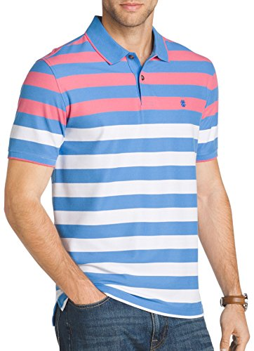 IZOD Mens Engineer Striped Performance Polo Shirt X-Large Blue revivial (Izod Striped Polo Shirt)