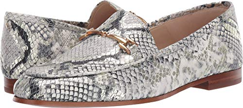Sam Edelman Women's Loraine Black/White Multi Bahamas Snake Print Leather 6 W US ()