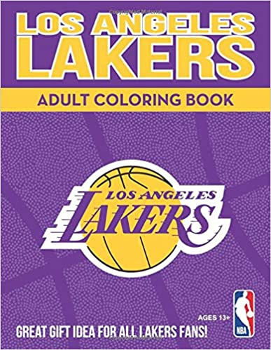 Los Angeles Lakers Adult Coloring Book A Colorful Way To