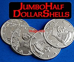 Jumbo Half Dollar Shells 3 + 1 Set - Magic Trick / Coin&Money Tricks