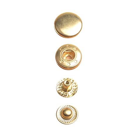 12mm S Spring Press Studs Buttons Snap Fastener 4 Parts Sewing Clothing Straps
