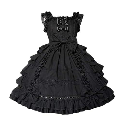 a631927096f4f Nuoqi Girls Sweet Lolita Dress Princess Lace Court Skirts Cosplay Costumes