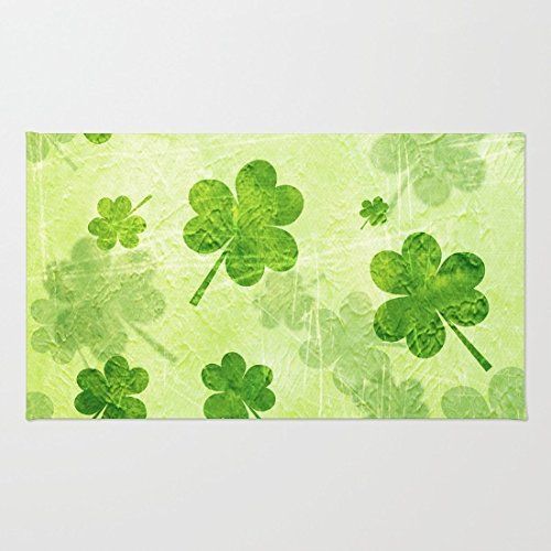 Green Shamrocks Bathroom Rug
