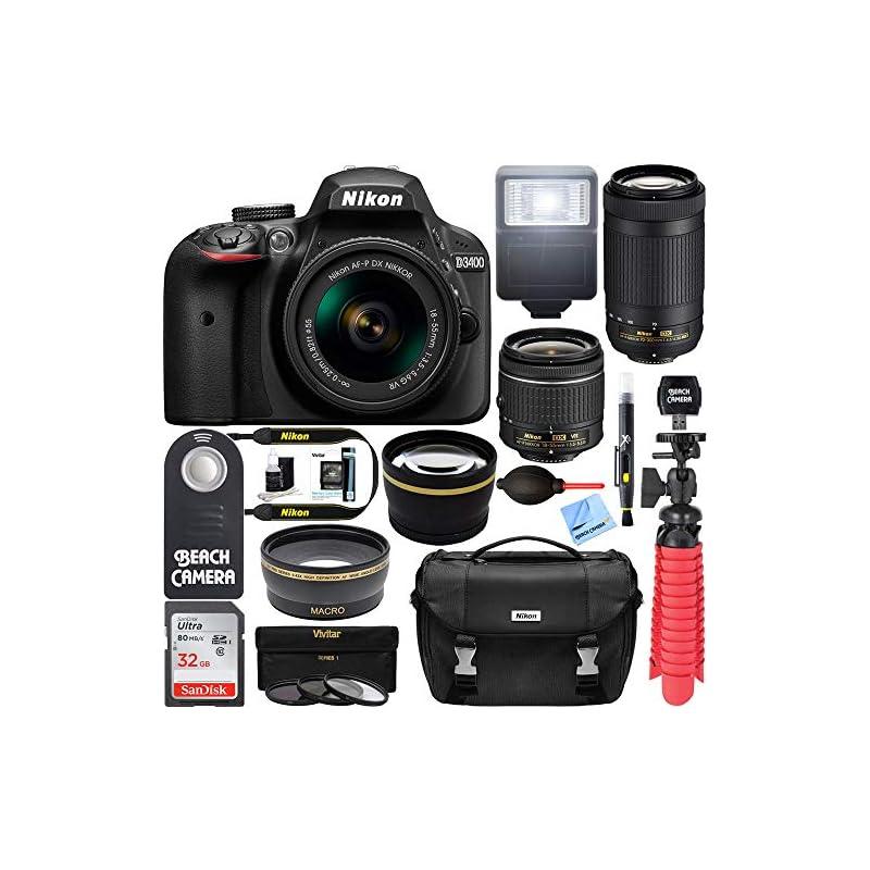 Nikon D3400 DSLR Camera + AF-P DX 18-55m