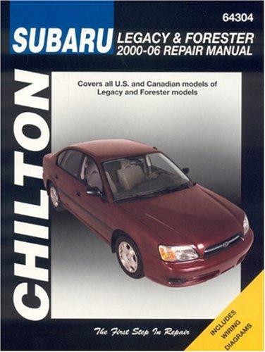 subaru legacy forester 2000 2006 haynes repair manuals chilton