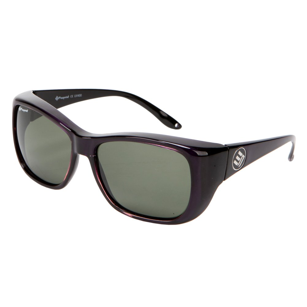 Freeprint Polarized Solar Shield Fit Over Glasses Driving Sunglasses for Men and Women,Purple