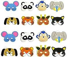 1 máscara de goma EVA para niños, diseño de animales, para fiestas ...