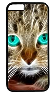 Cat Kitty Blue Eyes Masterpiece Limited Design PC Black Case for iphone 6 plus by Cases & Mousepads by ruishername