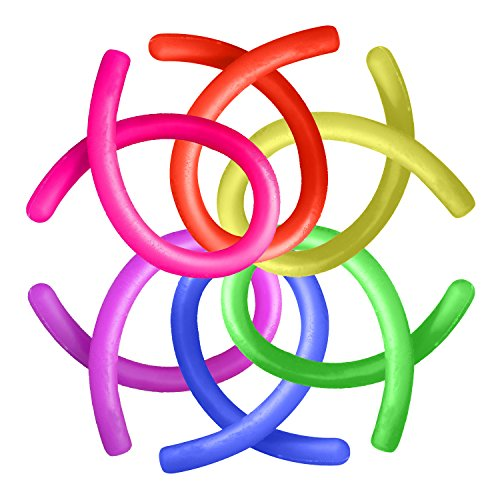 ADHD Fidget Toys, Autism Anxiety Stress Relief Sensory Fiddle Toys Hand Finger Small Stretchy String Eholder Set of 6 for Relaxing Calming Boys or Girls Kids,Adult Men or Women with Focusing,OCD,ADD Photo #3