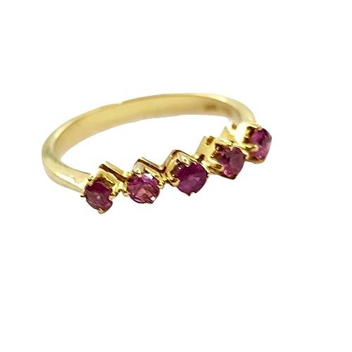 vendita calda online 213ec f01ca Anello Donna Veretta con 5 rubini naturali 0,25 ct in oro 18 ...