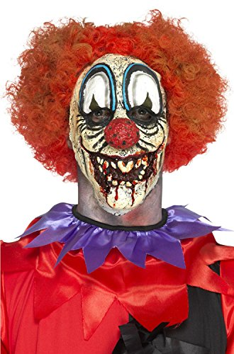 (Smiffy's 46794 Deluxe Foam Latex Special FX Clown Prosthetic, Red, One)