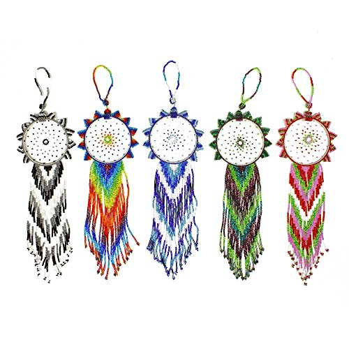 OR211 Bangle Style 4 inch Dream Catcher Glass Crystal Beaded Ornament Fair (Dream Bangle)