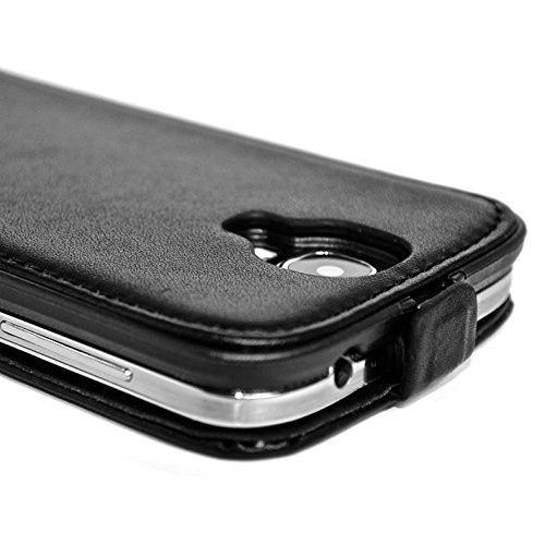 Snakehive® Samsung Galaxy S4 Cuero Laminado Funda volteable para Samsung Galaxy S4 (Marrón) Color Negro